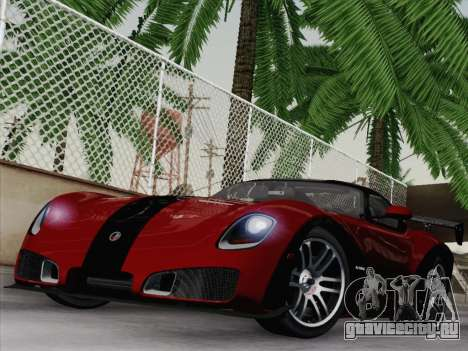 Devon GTX 2010 для GTA San Andreas вид сзади
