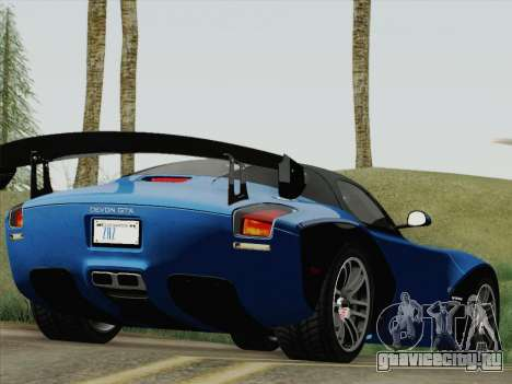 Devon GTX 2010 для GTA San Andreas вид слева