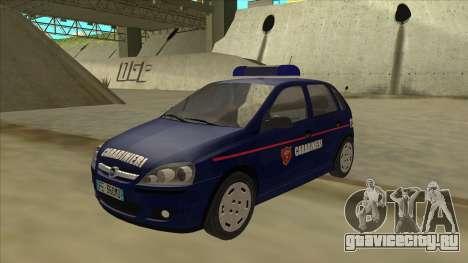Opel Corsa 2005 Carabinieri для GTA San Andreas