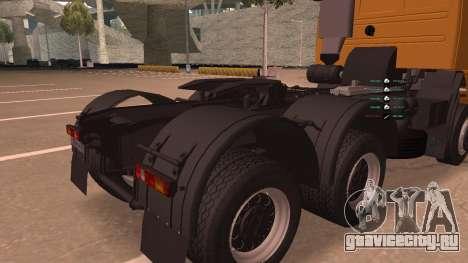 КамАЗ 260 Turbo для GTA San Andreas вид изнутри