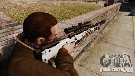 Снайперская винтовка AW L115A1 с глушителем v1 для GTA 4 второй скриншот