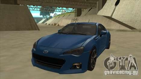 Subaru BRZ 2013 Tunable для GTA San Andreas