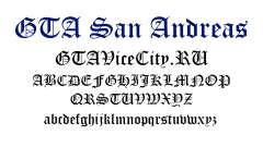 Официальный шрифт GTA San Andreas