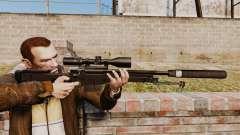 Снайперская винтовка AW L115A1 с глушителем v4 для GTA 4