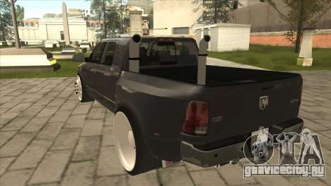 Dodge Ram Laramie Low для GTA San Andreas вид сзади