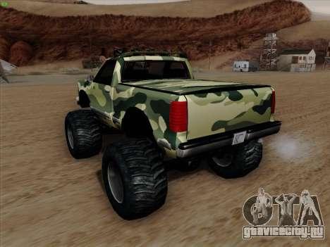 Камуфляж для Монстра для GTA San Andreas вид снизу