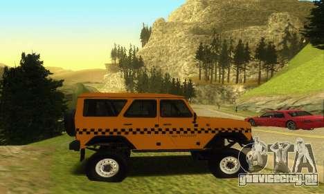 УАЗ Hunter Такси для GTA San Andreas вид изнутри
