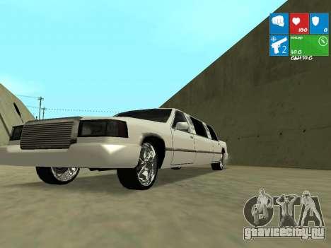 New Stretch для GTA San Andreas вид изнутри