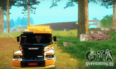 TopLine Scania 113 h 360 для GTA San Andreas вид сзади