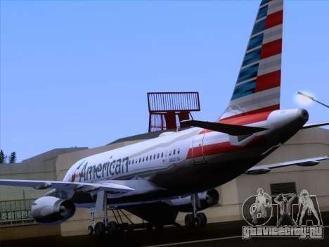 Airbus A319-112 American Airlines для GTA San Andreas вид снизу