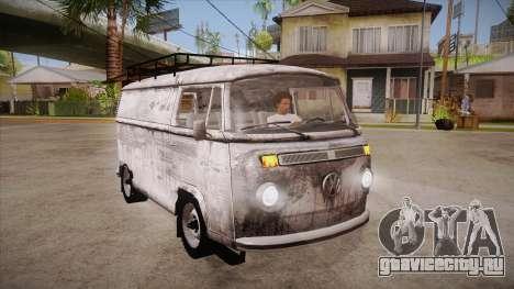 Volkswagen Transporter T2 Custom для GTA San Andreas вид сзади