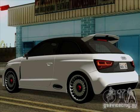 Audi A1 Clubsport Quattro для GTA San Andreas вид сзади слева