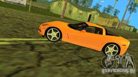 Chevrolet Corvette C6 для GTA Vice City вид сбоку