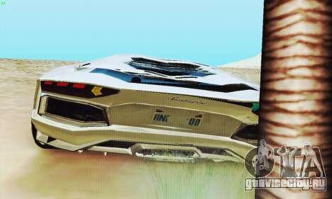 Lamborghini Aventador LP700 для GTA San Andreas колёса