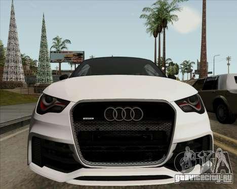 Audi A1 Clubsport Quattro для GTA San Andreas вид изнутри