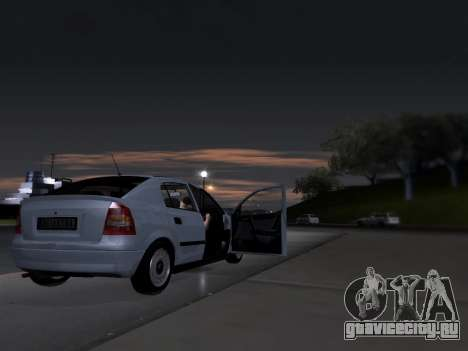 Opel Astra G для GTA San Andreas вид изнутри