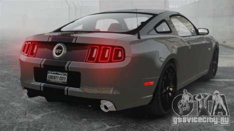 Ford Mustang GT 2013 для GTA 4 вид сзади слева
