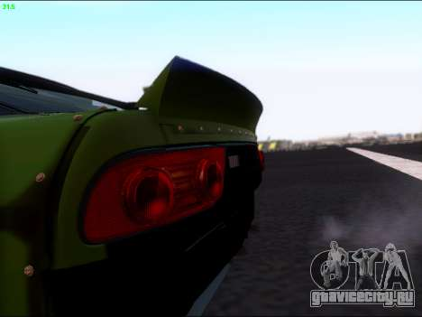 Nissan 180sx Takahiro Kiato для GTA San Andreas вид сзади