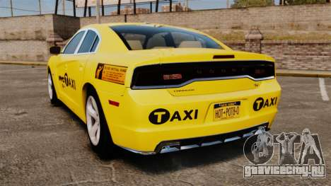 Dodge Charger 2011 Taxi для GTA 4 вид сзади слева