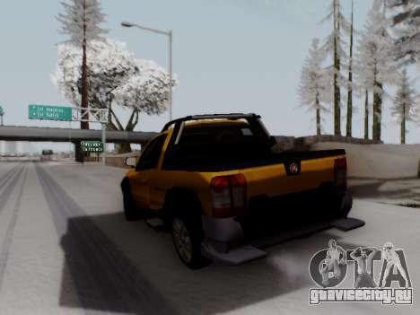 Fiat Strada Adv Locker для GTA San Andreas вид сзади слева