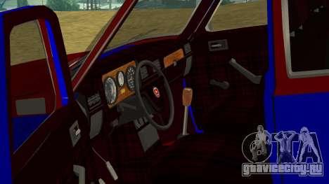 ГАЗ-24 Волга Fun для GTA San Andreas вид изнутри
