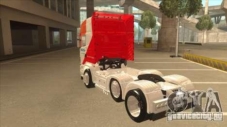 Scania R620 Nis Kamion для GTA San Andreas вид сзади