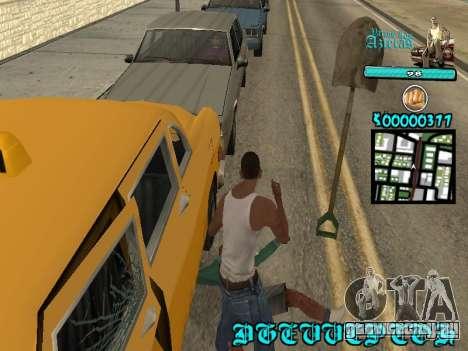 C-HUD by Kerro Diaz [ Aztecas ] для GTA San Andreas четвёртый скриншот