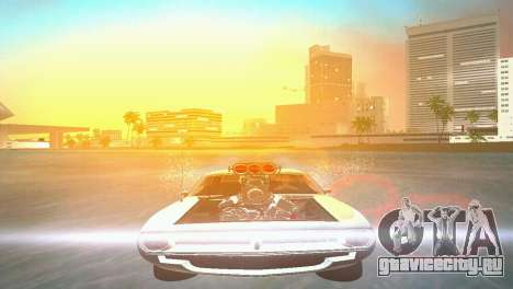 Plymouth Barracuda Supercharger для GTA Vice City вид справа