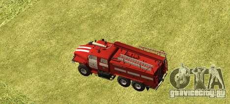 Урал 4320 Пожарный для GTA San Andreas вид слева