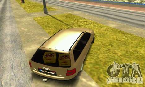 Audi A6 (C5) Avant для GTA San Andreas вид изнутри