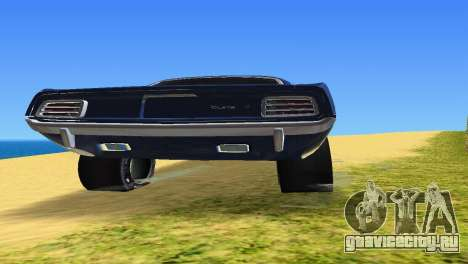 Plymouth Barracuda Supercharger для GTA Vice City вид изнутри