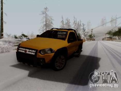 Fiat Strada Adv Locker для GTA San Andreas вид сзади