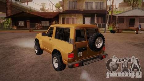 Nissan Patrol Y60 для GTA San Andreas вид сзади слева