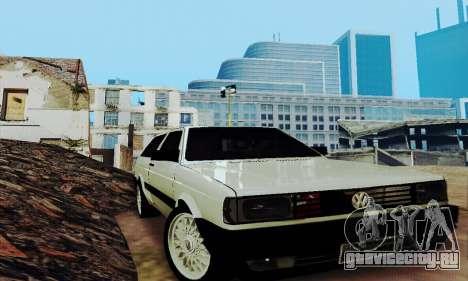 VW Parati GLS 1988 для GTA San Andreas вид изнутри