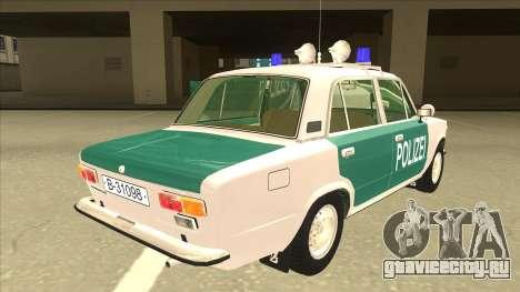 VAZ 21011 DDR police для GTA San Andreas вид справа