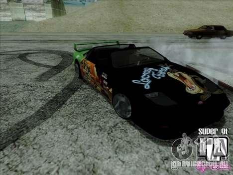 Super GT HD для GTA San Andreas вид изнутри