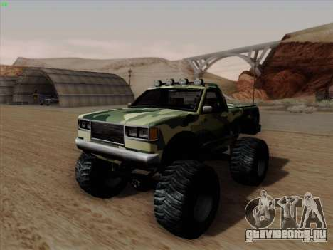 Камуфляж для Монстра для GTA San Andreas вид сзади слева