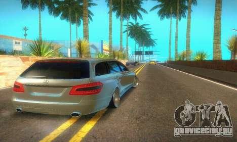 Mercedes-Benz E350 Wagon для GTA San Andreas вид сзади