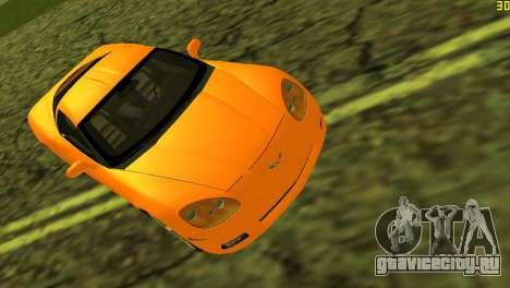 Chevrolet Corvette C6 для GTA Vice City вид изнутри