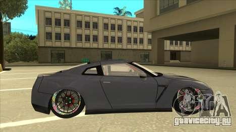 Nissan GT-R R35 Camber Killer для GTA San Andreas вид сзади слева