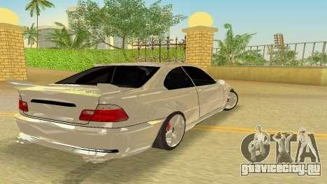 BMW M3 E46 Hamann для GTA Vice City вид изнутри