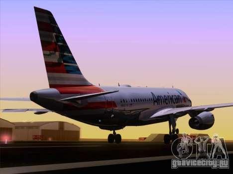 Airbus A319-112 American Airlines для GTA San Andreas вид сбоку