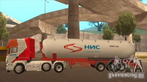 Полуприцеп Nis для Scania R620 Nis Kamion для GTA San Andreas вид изнутри