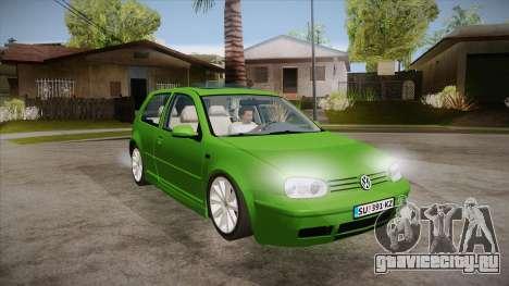 Volkswagen Golf Mk4 для GTA San Andreas вид сзади