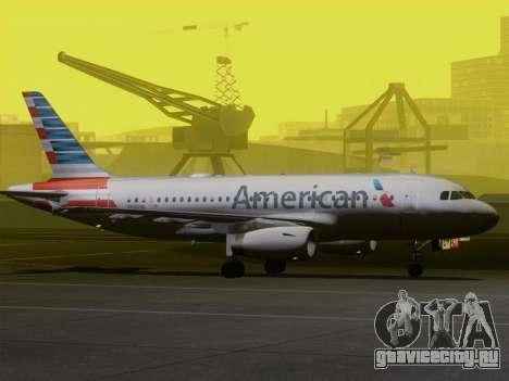 Airbus A319-112 American Airlines для GTA San Andreas колёса