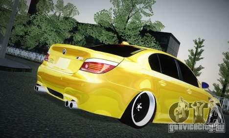 BMW M5 Gold для GTA San Andreas вид справа