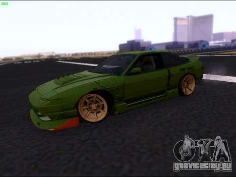 Nissan 180sx Takahiro Kiato для GTA San Andreas вид слева