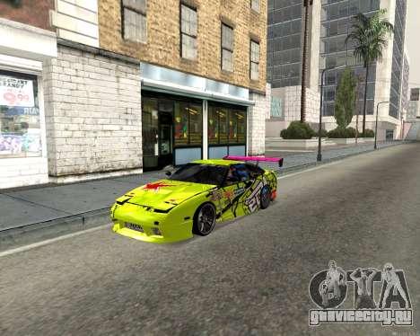 Nissan 240sx Drift для GTA San Andreas вид слева