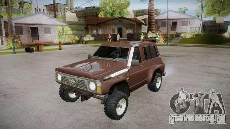 Nissan Patrol Y60 для GTA San Andreas вид снизу