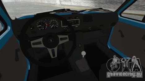 Volkswagen Golf MK1 GTI Update v2 для GTA 4 вид изнутри
